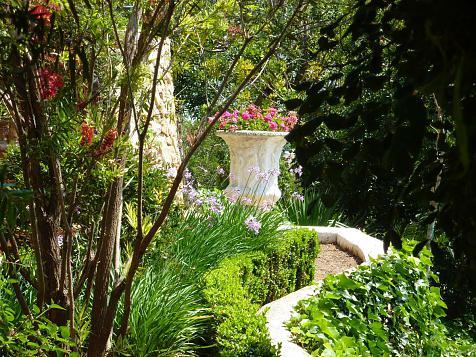 Jardín en una Villa Mediterránea auténtica